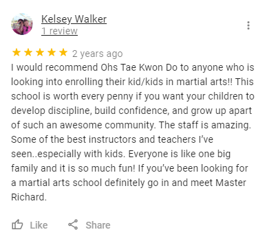 Kids4, Oh's Martial Arts